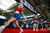 The Kilgore College Rangerettes perform during an enshrinement ceremony into the Cotton Bowl Hall of Fame at AT&T Stadium in Arlington on May 8, 2018.(Rose Baca/Staff Photographer)