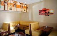 The dining area at Iby restaurant in Richardson is colorful and cozy.(Jae S. Lee/Staff Photographer)