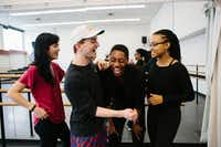 Booker T. Washington alumni Madison Hicks, 22, (left), Mason Manning, 22, (center left), Mykal Stromile (center right), and Alysia Johnson, 22, (right) now graduating seniors at the Juilliard School.(Cassandra Giraldo/Special Contributor)
