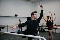 Booker T. Washington alumnus Zane Unger, 18, during first-year ballet class at the Juilliard School in New York. (Cassandra Giraldo/Special Contributor)