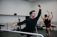 Booker T. Washington alumnus Zane Unger, 18, during first-year ballet class at the Juilliard School in New York.(Cassandra Giraldo/Special Contributor)
