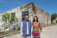 "Jitin Hingorani (left) and Anu Basu Agarwal, co-founders of Dallas Indian Arts Collective, plan to rent out the collective's Design District building for events. ""This event space is going to be a home for all the artist we bring in from India,"" Hingorani said.(Carly Geraci/Staff Photographer)"