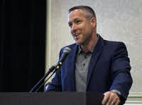 "<p><span style=""font-size: 1em; background-color: transparent;"">J.D. Greear, candidate for president of the SBC, speaks at a meeting at the Southern Baptist Convention in Dallas on Sunday, June 10. </span></p>(Marc Ira Hooks/Southern Baptist Convention)"