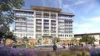 The first phase of the development will include a nine-story office and retail building.(Bright Realty)