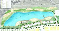 The Windsong Ranch Crystal Lagoon will have three beaches, a boardwalk and boat dock.(Terra Verde Group)
