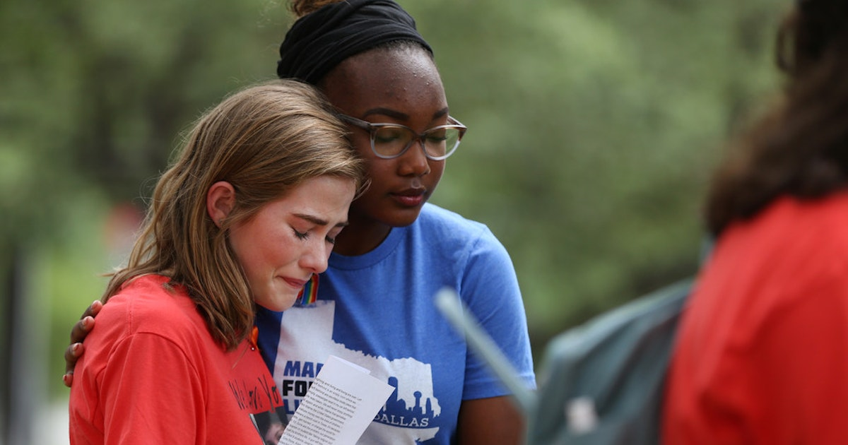 'They're shooting my classroom': Santa Fe student shares last texts with slain brother at Dallas die-in