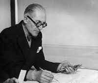 This file picture taken in 1961 shows Swiss-French architect Charles-Edouard Jeanneret, better known as Le Corbusier.(Agence France-Presse)