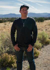 Tommy Orange at the Indian American Institute of Art in Santa Fe, N.M., where he teaches, May 17, 2018.  (Christopher D. Thompson/The New York Times)