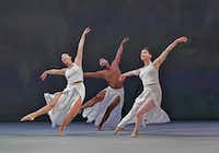 The performances by members of Big Muddy Dance Company is one of the chief pleasures in <i>Orfeo & Euridice</i>  at the Opera Theatre of St. Louis.  (Ken Howard/Opera Theatre of St. Louis)