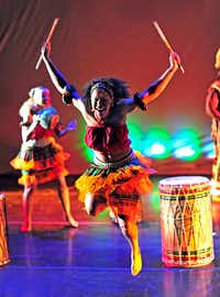 Bandan Koro African Drum & Dance Ensemble performs in the traditional style practiced in Guinea and other West African countries. (Bandan Koro African Drum & Dance Ensemble)