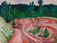 Edvard Munch <i>Thuringian Forest</i>, 1904; oil on canvas, Dallas Museum of Art, the Eugene and Margaret McDermott Art Fund, Inc.(Dallas Museum of Art)