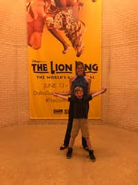 "<p>Landon Dehn, 8, and his mother,&nbsp;<span style=""font-size: 1em; background-color: transparent;"">Danielle Dehn, attend <i>The Lion King.&nbsp;</i></span></p>(Courtesy of Danielle Dehn)"