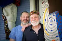 Artists Devin McCullough and his father, David McCullough.(Smiley N. Pool/Staff Photographer)