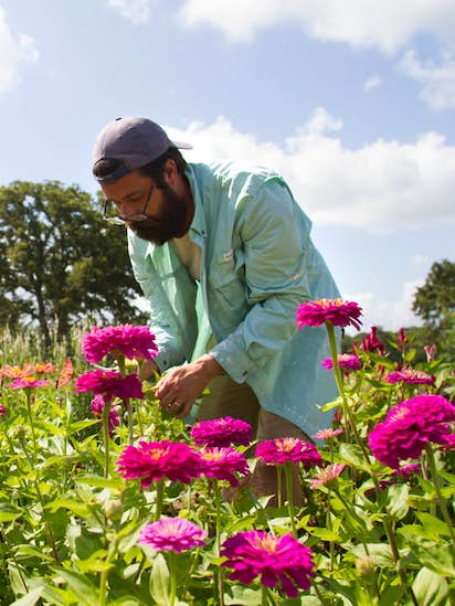 Meet A Young Texas Couple Who Quit Their Jobs To Start A Flower Farm