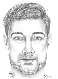 A composite sketch of the woman's attacker.(Grand Prairie Police Department)