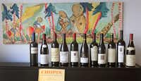A lineup of some of the wines tasted(Louis DeLuca/Staff Photographer)