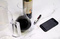 Some of the tools needed to decant wine(Vernon Bryant/Staff Photographer)