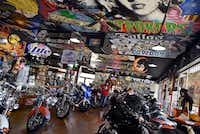 The bike and apparel shop inside Strokers Dallas.(Ben Torres/Special Contributor)