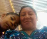 This 2018 photo provided by Beata Mariana de Jesus Mejia-Mejia shows herself with her son Darwin Micheal Mejia in Quetzaltenango, Guatemala, before they left for the United States and crossed the border near San Luis, Arizona. On Tuesday, June 19, Mejia-Mejia, who hasn't seen her 7-year-old son since he was taken from her a month ago, sued the Trump administration. She was released from custody while her asylum case is pending and thinks her son, Darwin, might be in a shelter in Arizona. (Beata Mariana de Jesus Mejia-Mejia via AP)(Beata Mariana de Jesus Mejia-Mejia/AP)