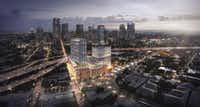 The 8-acre Epic project includes the new Kimpton Hotel, an office tower and apartment high-rise(Westdale)