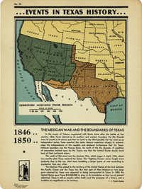 "A page from ""Events in Texas History 1519 - 1936"" by J. Frank Dobie."