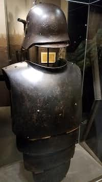 "<p>A steel helmet and breastplate used by sentries in the trenches is displayed at the&nbsp;<span style=""font-size: 1em; background-color: transparent;"">Mémorial de Verdun museum.</span></p>(Travis Pinson/Special Contributor)"