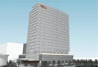 A modern office tower is included in the plans for Lesso America's Frisco project.(Gensler)