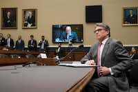 "Energy Secretary Rick Perry declined to agree with President Donald Trump's assessment that NAFTA is ""one of the worst deals ever made by this country."" (AP Photo/J. Scott Applewhite)(J. Scott Applewhite/AP)"