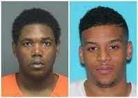 <p>Cassius Williams (left) and Rozman Shannon Jr.</p>(Mesquite Police Department)