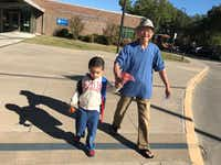 Victor Nguyen, left, and grandfather Vincent Nguyen(Carrollton Police Department)