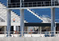 Officials hope to have as much repair work to the stadium done as possible done by Aug. 1 (File photo)