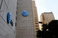 AT&T corporate headquarters in downtown Dallas, Wednesday, September 13, 2017, in Dallas.(David Woo/Staff Photographer)