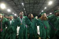Prosper High School seniors participate in their graduation ceremony at The Star in Frisco, TX, on May 26, 2018. (Jason Janik/Special Contributor)(Jason Janik/Special Contributor)