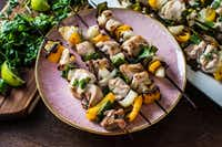 Coconut Lime Chicken Kebabs(Rebecca White/Special Contributor)