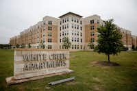 The White Creek Apartments at Texas A&M University campus in College Station.(Rose Baca/Staff Photographer)