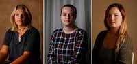 "<p><span style=""font-size: 1em; background-color: transparent;"">From left: Texas A&M students Kendra Bailey, 22; Hannah Shaw, 20; and former student Meghan Romere, 22; were among 10 women who told <i>The Dallas Morning News</i> that the university responded inadequately to campus sexual assaults reported to school officials.</span></p>(Rose Baca/Staff Photographer)"