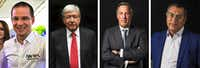 "<p><span style=""font-size: 1em; background-color: transparent;"">Recent pictures of Mexico's presidential candidates, left to right: Ricardo Anaya for the ""Mexico al Frente"" coalition, Andrés Manuel López Obrador for the ""Juntos haremos historia"" party or MORENA, José Antonio Meade for ""Todos por Mexico"" coalition and independent candidate Jaíme ""El Bronco"" Rodriguez Calderón. Election day is Sunday.</span></p>(PEDRO PARDO/AFP/Getty Images)"