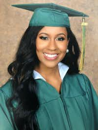 Destiny Brannon was named as DeSoto ISD's valedictorian, until errors discovered nearly two weeks after her graduation moved her class ranking from No. 1 to No. 3. As the valedictorian, Destiny would have received one free year of tuition at a state university, a perk awarded to every valedictorian from a Texas public high school.(Courtesy photo/Courtesy photo)