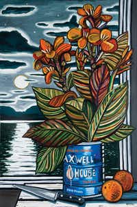 <i>Cannas</i>, by David Bates, is part of his 2018 show at the Tyler Museum of Art. David Bates (b. 1952). <i>Cannas</i>, 2003. Oil on canvas, 72 x 48 inches. Tyler Museum of Art Permanent Collection(Tyler Museum of Art)