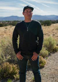Tommy Orange  at the Indian American Institute of Art in Santa Fe, N.M., where he teaches, in May 2018.  (Christopher D. Thompson/The New York Times)