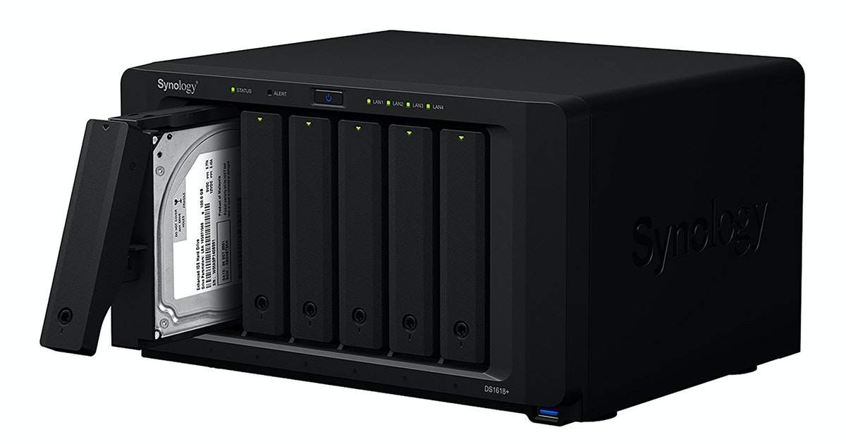 Synology 1618+ can backup and store your data and host your website, too...