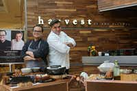 Notable chefs such as Todd English join chef Roy Ellamar (left) at Harvest restaurant during a snack wagon event.(MGM Resorts)