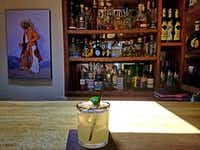 Sazon makes a perfectly tart margarita with just three ingredients: tequila, orange liqueur and lime juice.(Helen Anders)