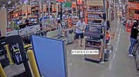 Here's another image of a suspect who is accused of stealing someone's identity and using it to go on a Home Depot shopping spree.(Southlake Police Department)