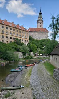 "<p>Rafts, canoes and kayaks fill the Vltava River as it meanders through&nbsp;<span style=""font-size: 1em; background-color: transparent;"">Český Krumlov.</span></p>(Travis Pinson/Special Contributor)"
