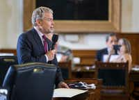 Senator Don Huffines at the Texas state capitol in Austin.(Ashley Landis/Staff Photographer)