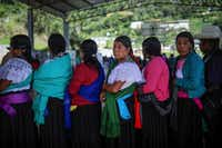 In this July 1, 2018 photo, people wait to vote during general elections in the indigenous community of Soledad Atzompa, Veracruz state, Mexico.(Felix Marquez/AP)