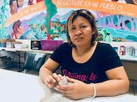 "<p>Digna Perez, 37, sits at a shelter in El Paso, waiting to be reunited with her children, William, 9, and Stefania, 6. Both are in federal custody. (<span style=""font-size: 1em; background-color: transparent;"">Alfredo Corchado/Staff)</span></p>(<p><br></p>)"