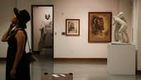 """The exhibit """"Faces of Christ"""" at the Museum of Biblical Art in Dallas, features the work of artist Warner Sallman, who painted the widely reproduced <i>Head of Christ</i>.(Andy Jacobsohn/Staff Photographer)"""
