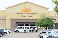 Last month, dignitaries toured Southwest Key Programs Casa Padre, a U.S. immigration facility in Brownsville where children who have been separated from their families are detained. (File Photo/The Associated Press)